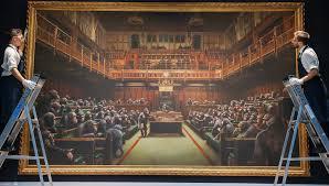 Картина Бэнкси, высмеивающая парламент Великобритании, ушла смолотка за12 млн долл