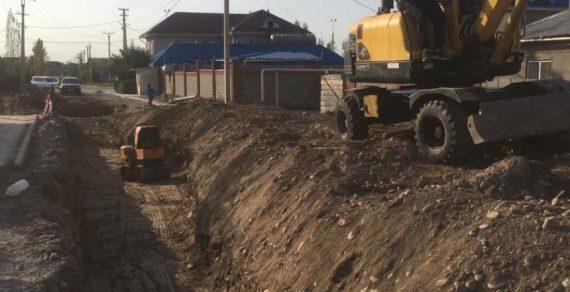 В новостройке «Арча-Бешик» проводят канализацию