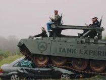 Американцам предложили снимать стресс, давя машины танком
