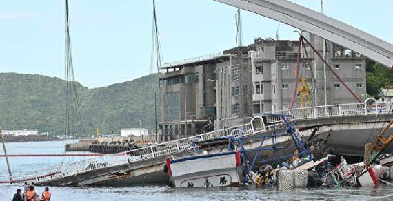 На Тайване под обломками рухнувшего моста нашли пять тел