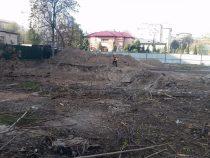 В Бишкеке на месте сгоревшей налоговой начали строить детсад