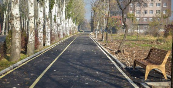 В южной части Бишкека строится кольцевая велодорожка