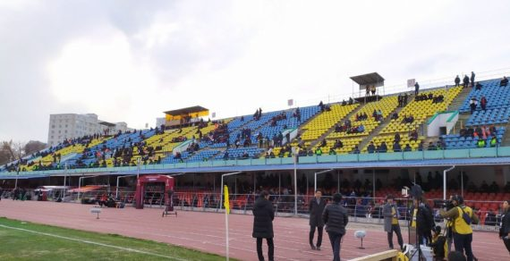 В центре Бишкека царит футбольное волнение