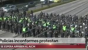 В Мексике полицейские перекрыли дорогу в столичный аэропорт