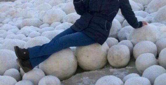 В Финляндии на пляже обнаружили тысячи ледяных шаров