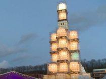 В Эстонии установили елку из пустых канистр
