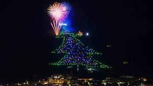 ВИталии зажгли самую большую рождественскую ель на планете