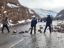 На дороге Сулюкта – Исфана произошел камнепад