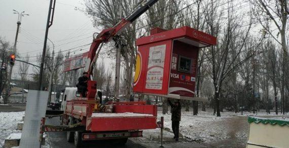Демонтаж незаконно установленных объектов в столице продолжается