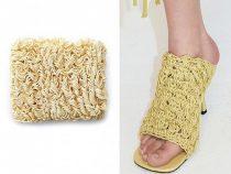 Итальянский бренд удивил обувью из «лапши быстрого приготовления»