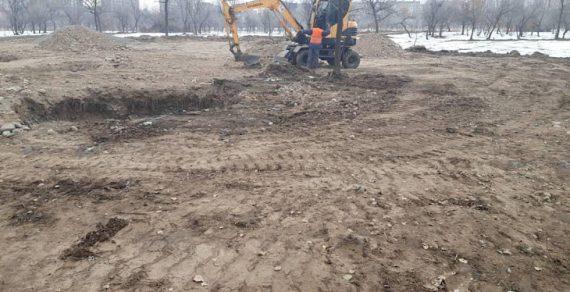 В столице началось благоустройство нового парка