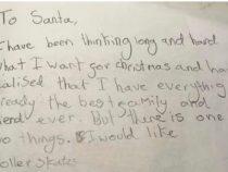Девочка написала письмо Санте и растопила сердца пользователей Сети