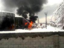 В Джалал-Абаде произошел пожар на нефтебазе
