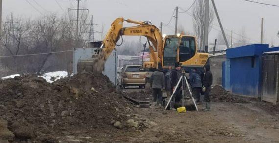 Строительство канализации в жилмассиве «Ак-Тилек» выходит на финишную прямую