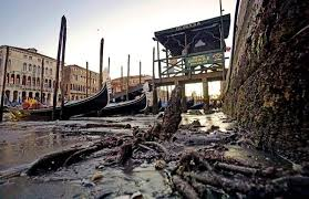В Венеции из-за рекордных отливов обмелели речные каналы