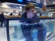 «Я карп»: мужчина возомнил себя рыбой и залез в аквариум в супермаркете