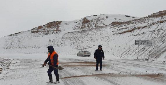 Милиция следит за безопасностью движения на трассах Нарынской области