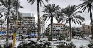 В Багдаде второй раз за 100 лет выпал снег