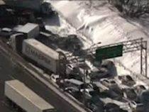 Из-за плохой видимости в Канаде столкнулось более 200 автомобилей