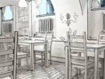 Обед в иллюзии. В Петербурге открылось чёрно-белое кафе