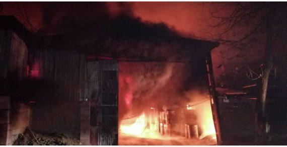 Пожар на улице Тимирязева в Бишкеке полностью потушен