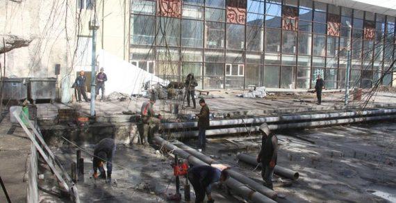 Ремонт Кыргызского драмтеатра продолжается