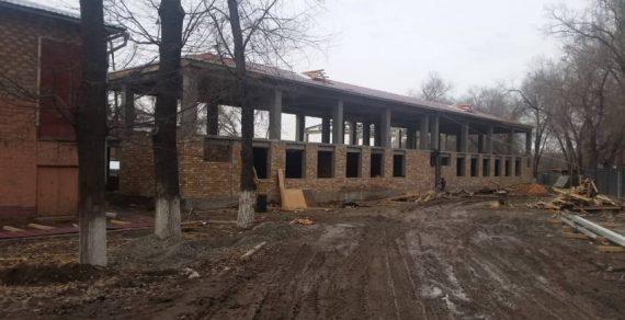 Строительство пристройки в школе №19 в самом разгаре