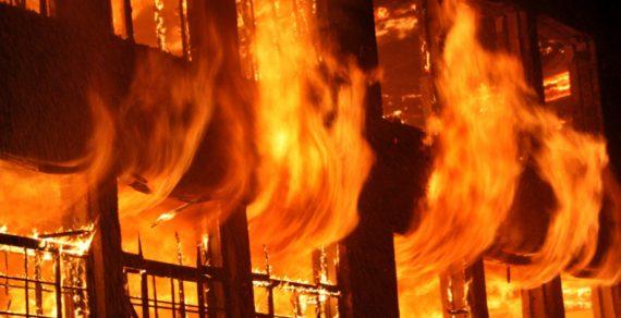 В Кара-Кульджинском районе сгорела школа