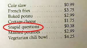 Посетителям ресторана приходится платить за глупые вопросы