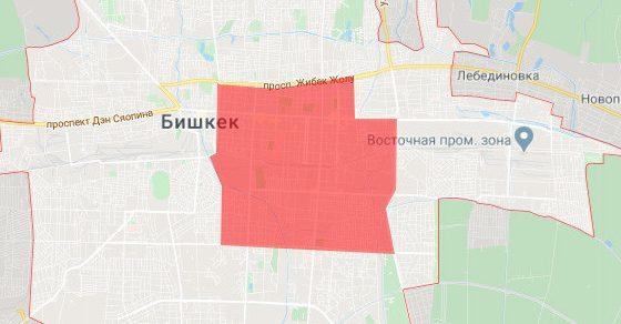 Вся центральная часть Бишкека вошла в карантинную зону