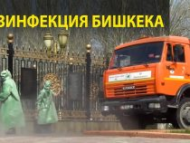 Для дезинфекции Бишкека используют раствор гипохлорита кальция