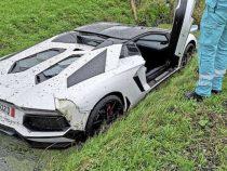 Курьез в Нидерландах: утопленный Lamborghini не помешал и дальше проводить свадьбу
