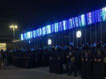 Милиция разогнала участников митинга в центре Бишкека