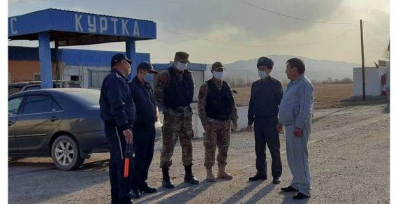 Блокпосты появились на въезде и в Нарынскую область