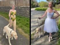 Британка превратила прогулки с собакой в настоящий «выход в свет»