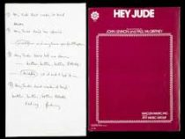 Рукописный текст песни The Beatles продали на аукционе за $910 тысяч