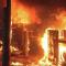 В Москве сгорели палатки, где жили мигранты