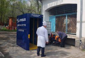 В Бишкеке устанавливают дезинфицирующие туннели
