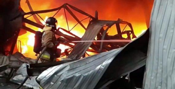 В Москве при пожаре на стройке инфекционной больницы погиб кыргызстанец