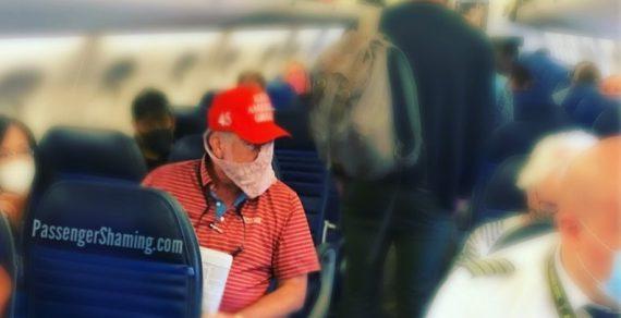 Пассажир самолета вместо маски защитился женским кружевным бельем