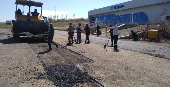 В аэропорту «Исфана» идет ремонт взлетно-посадочной полосы