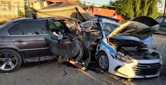 Пьяный водитель протаранил блокпост, погибли два сотрудника МВД
