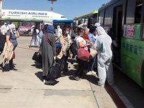 Из Москвы на родину прибыли 450 кыргызстанцев
