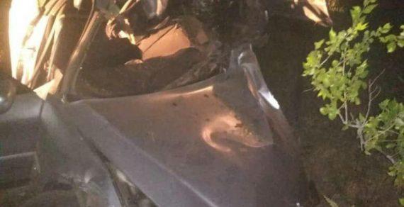 В Караколе двое молодых людей попали в ДТП на угнанном авто