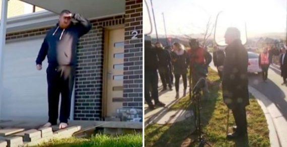 Местный житель прогнал премьер-министра Австралии со своего газона