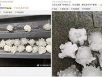 «Коронавирусный» град выпал в Пекине