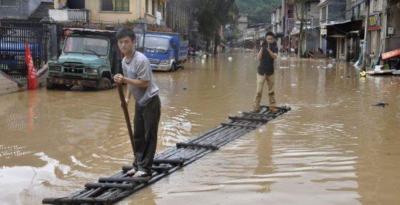 На 11 провинций Китая обрушились сильные дожди