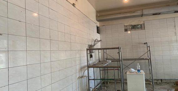 В Бишкеке ведется капитальный ремонт детской молочной кухни