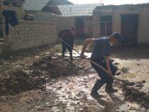 В Нарыне от селей очищены 63 жилых дома