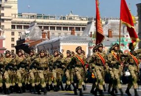 Военнослужащие Нацгвардии КР прошлись маршем на параде Победы в Москве